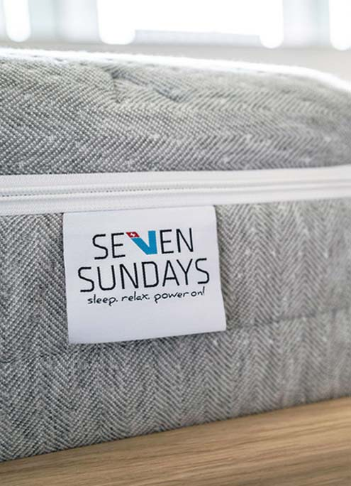 SEVEN SUNDAYS Matratzen Label