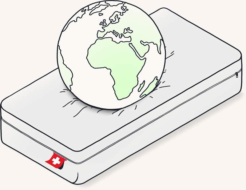 Umweltfreundliche Matratzen Illustration